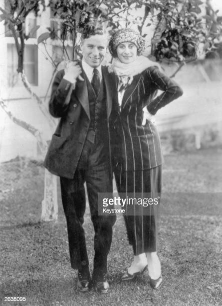 Charlie Chaplin English film actor and director in Hollywood with Russian ballerina Anna Pavlova Original Publication People Disc HW0509