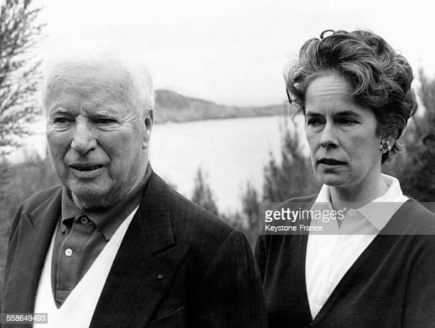 Charlie Chaplin et son épouse Oona O'Neill