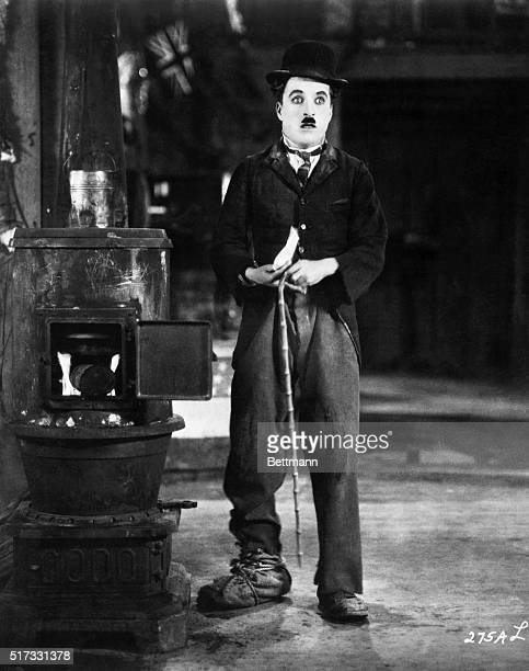 Charlie Chaplin in a scene from 'The Gold Rush'