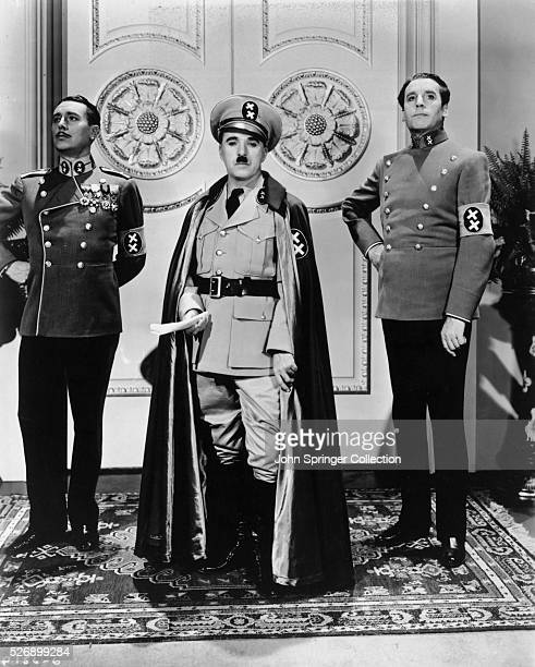 Charlie Chaplin plays dictator Adenoid Hynkel in the 1940 comedy The Great Dictator