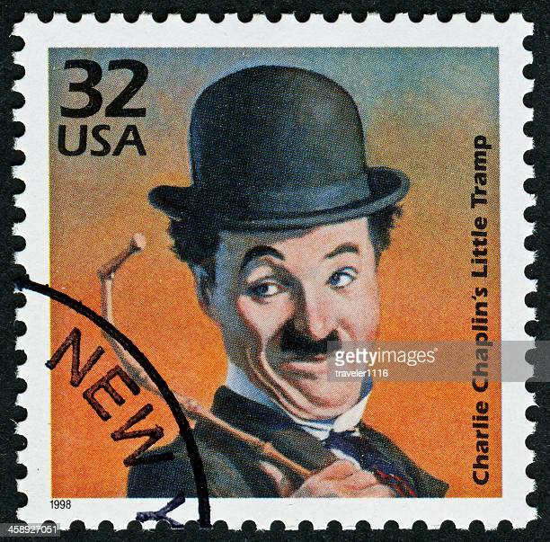 charlie chaplin stamp - hollywood squares stock pictures, royalty-free photos & images