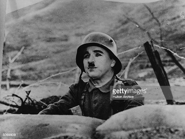 Charlie Chaplin stars in the United Artists film 'The Great Dictator' directed by Chaplin himself