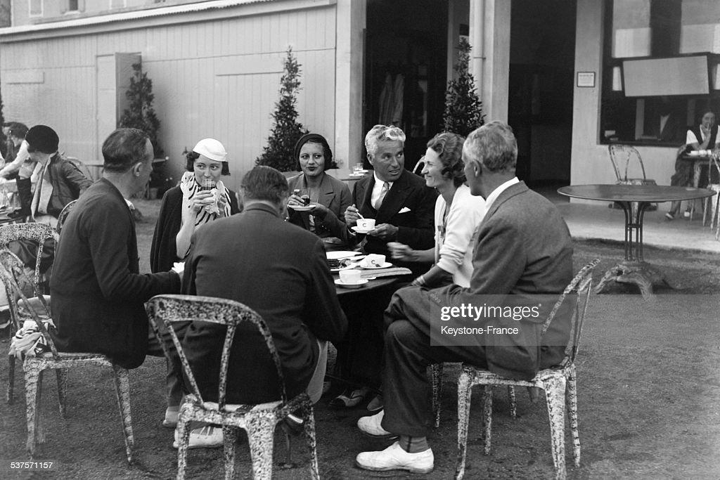 Charlie Chaplin And Jean Patou : News Photo