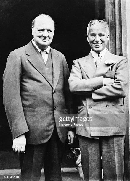 Charlie CHAPLIN who came back to his country for CITY LIGHTS visited his friend Winston CHURCHILL at that time Epping MP in his property of Chartwell...