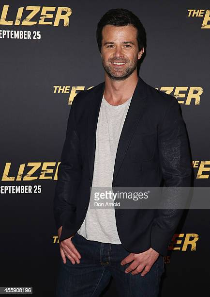 "Charlie Clausen poses on the red carpet at ""The Equalizer"" Sydney Premiere at Event Cinemas George Street onSeptember 22, 2014 in Sydney, Australia."