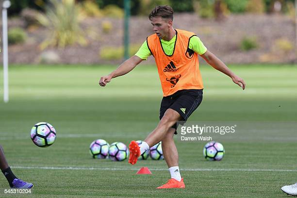 Charlie Colkett at Chelsea Training Ground on July 6 2016 in Cobham England