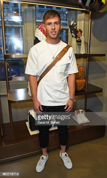 Charlie Colkett attends PUMA x MCM Collaboration London Launch Party in partnership with British GQ Style on May 24 2018 in London England