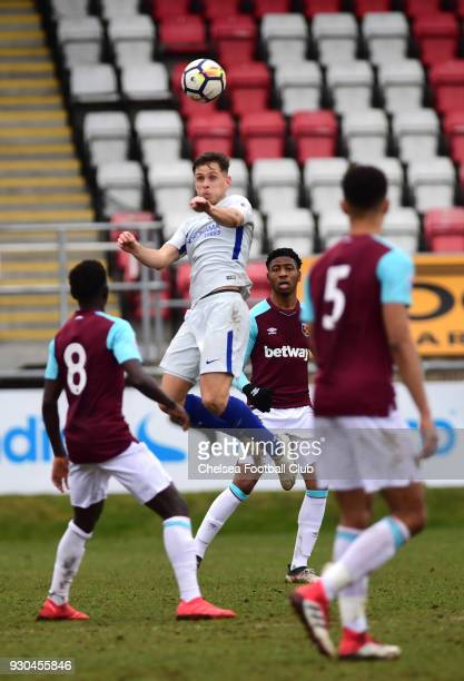 Charlie Colkett of Chelsea during the Premier League 2 match between West Ham U23 and Chelsea U23 at Dagenham Redbridge FC on March 11 2018 in...