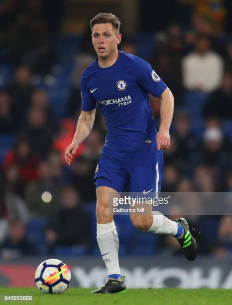 Charlie Colkett of Chelsea during the Premier League 2 match between Chelsea and Tottenham Hotspur at Stamford Bridge on April 13 2018 in London...