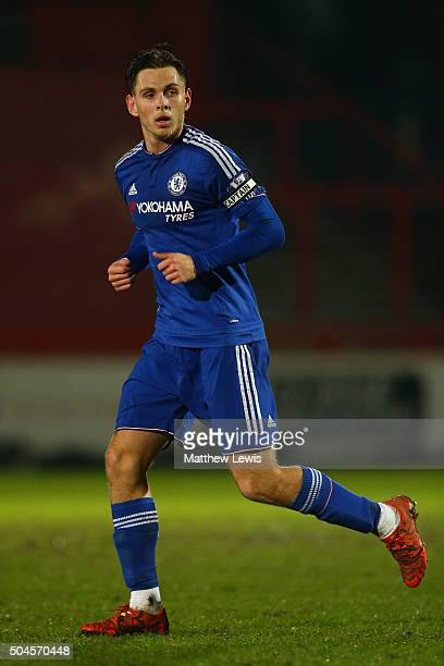 Charlie Colkett of Chelsea in action during the Barclays U21 Premier League match between Tottenham Hotspur U21 and Chelsea U21 at The Lamex Stadium...