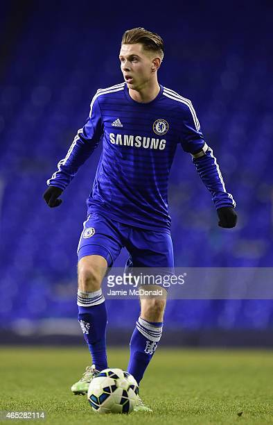 Charlie Colkett of Chelsea in action during the FA Youth Cup Semi Final first leg match between Tottenham Hotspur and Chelsea at White Hart Lane on...