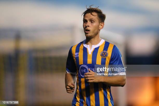 Charlie Colkett of Shrewsbury Town during the Carabao Cup First Round match between Shrewsbury Town and Burton Albion at Montgomery Waters Meadow on...