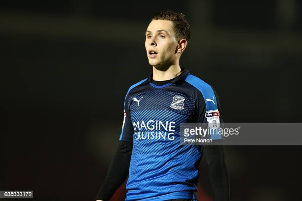 Charlie Colkett of Swindon Town in action during the Sky Bet League One match between Northampton Town and Swindon Town at Sixfields on February 14...