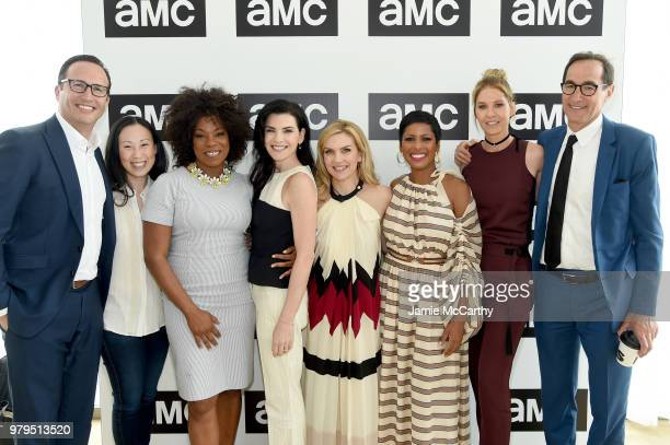 Charlie Collier Angela Kang Lorraine Touissant Julianna Margulies Rhea Seehorn Tamron Hall Jenna Elfman and Josh Sapan attend the AMC Summit at...