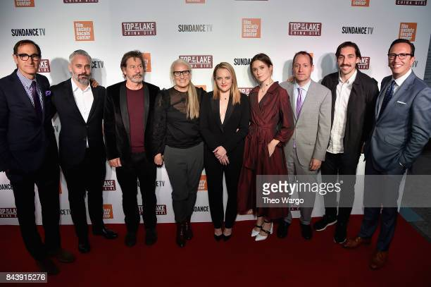 Charlie Collier Iain Canning Gerard Lee Jane Campion Elisabeth Moss Alice Englert Ed Carroll Ariel Kleiman and Charlie Collier attend 'Top Of The...