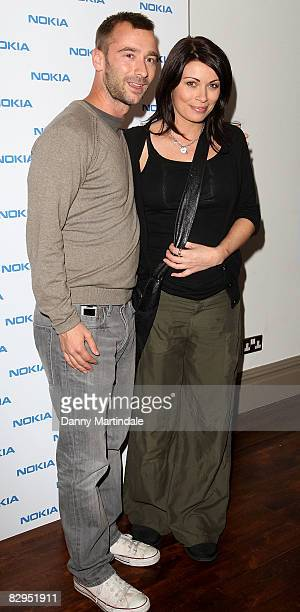 Charlie Condou and Alison King pose at the Nokia 'Capsule N96' Launch Party at Century Club on September 22 2008 in London England