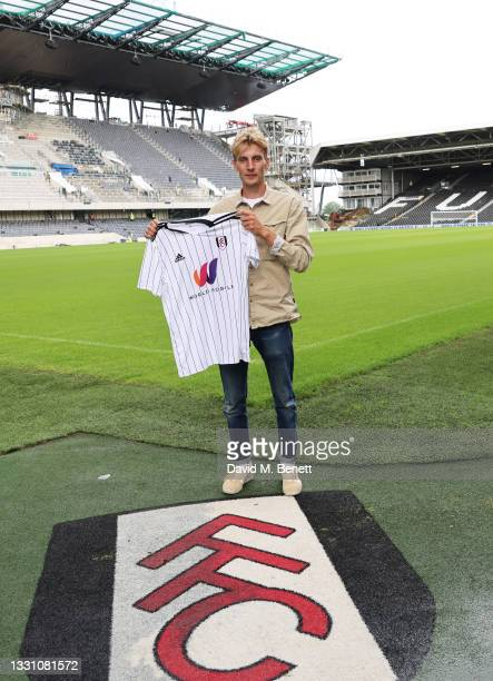 Charlie Cooper attends a brunch to celebrate the partnership between World Mobile and Fulham FC at Craven Cottage on July 28, 2021 in London, England.