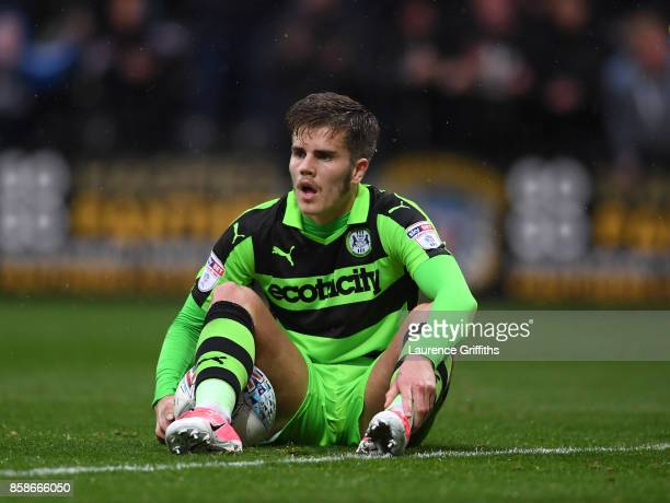 Charlie Cooper of Forest Green Rovers shows his frustrations after conceding a late equalisercduring the Sky Bet League Two match between Notts...