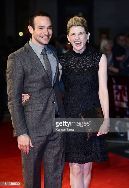Charlie Cox and Jodie Whittaker attend the screening of 'Hello Carter' during the 57th BFI London Film Festival at Odeon West End on October 12 2013...