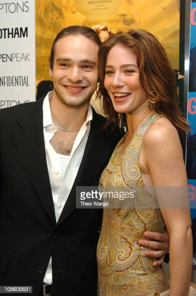 Charlie Cox and Lynn Collins during Being Julia New York Premiere Arrivals at The Paris Theatre in New York City New York United States