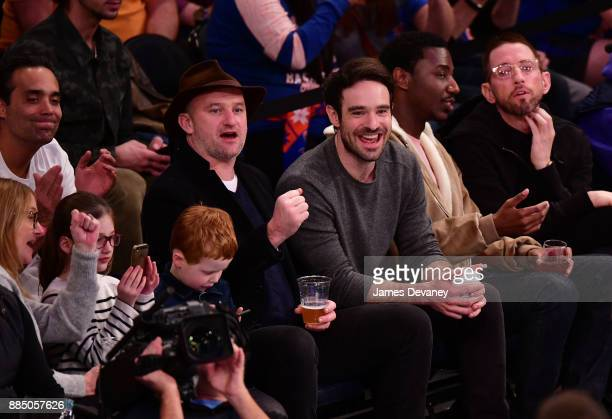 Charlie Cox attends the Orlando Magic Vs New York Knicks game at Madison Square Garden on December 3 2017 in New York City