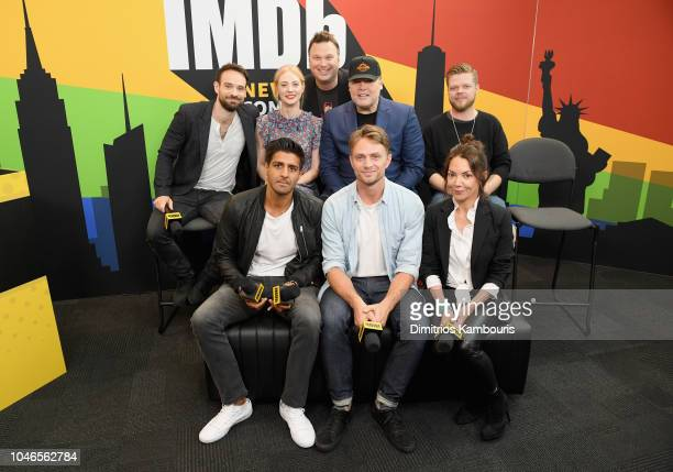 Charlie Cox, Deborah Ann Woll, Erik Oleson, Vincent D'Onofrio, Elden Henson, Jay Ali, Wilson Bethel and Joanne Whalley of 'Daredevil' attend IMDb at...