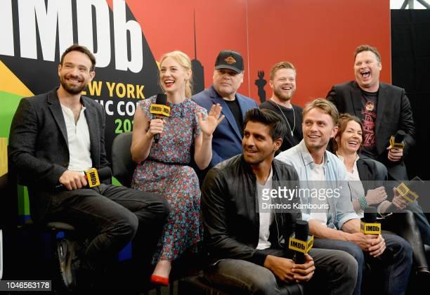Charlie Cox Deborah Ann Woll Vincent D'Onofrio Elden Henson Erik Oleson Jay Ali Wilson Bethel and Joanne Whalley of 'Daredevil' attend IMDb at New...