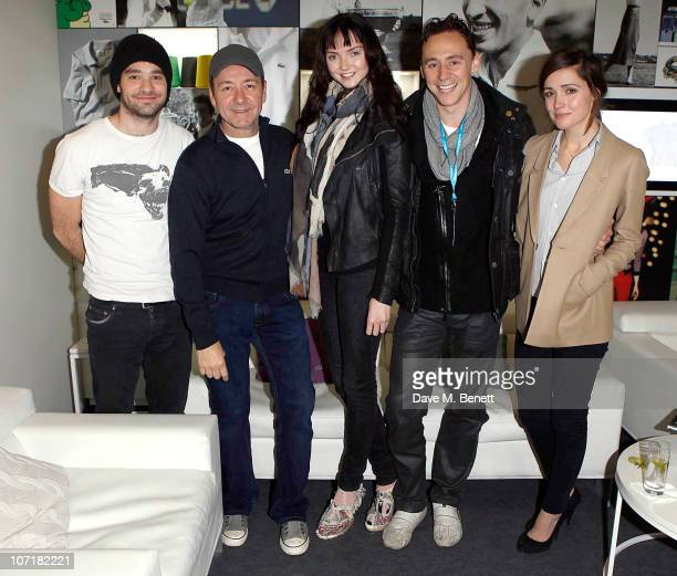 Charlie Cox Kevin Spacey Lily Cole Tom Hiddleston and Rose Byrne at the Lacoste VIP Lounge at the ATP World Tour Finals in the O2 Arena on November...