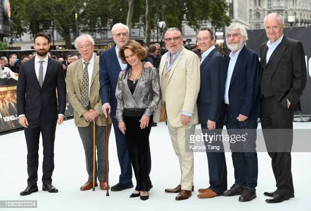 Charlie Cox Michael Gambon Michael Caine Francesca Annis Ray Winstone Paul Whitehouse Tom Courtney and Jim Broadbent attend the World Premiere of...