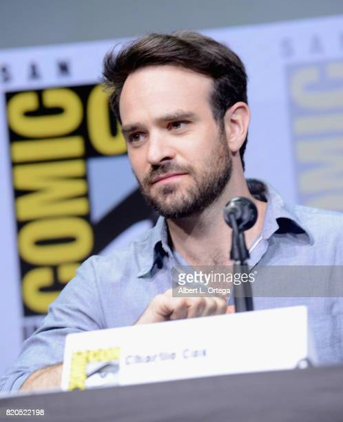 Charlie Cox speaks onstage at Netflix's 'The Defenders' panel during ComicCon International 2017 at San Diego Convention Center on July 21 2017 in...