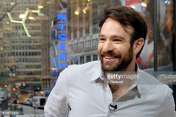 Charlie Cox Visits 'Extra' at their New York studios at HM in Times Square on March 14 2016 in New York City