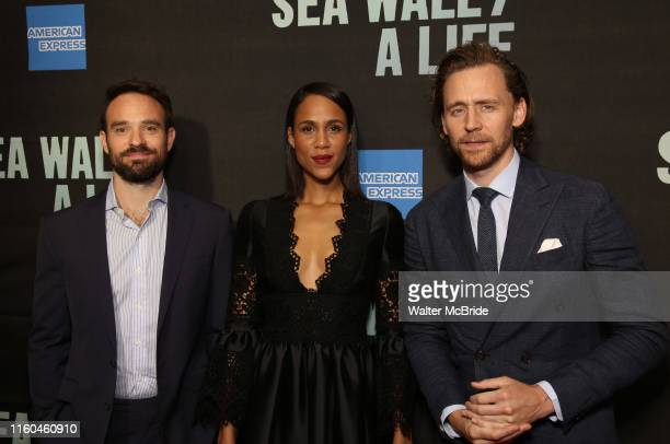 Charlie Cox Zawe Ashton and Tom Hiddleston attend the Broadway Opening Night performance of Sea Wall / A Life at the Hudson Theatre on August 08 2019...