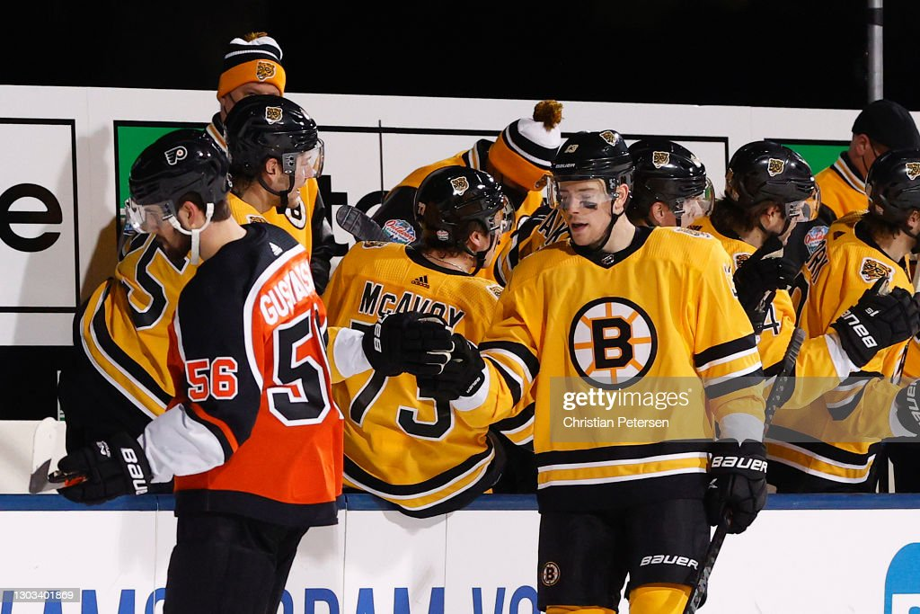 NHL Outdoors At Lake Tahoe - Philadelphia Flyers v Boston Bruins : News Photo