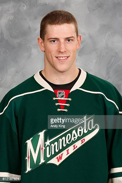 Charlie Coyle of the Minnesota Wild poses for his official headshot for the 20162017 season on September 22 2016 at the Xcel Energy Center in St Paul...