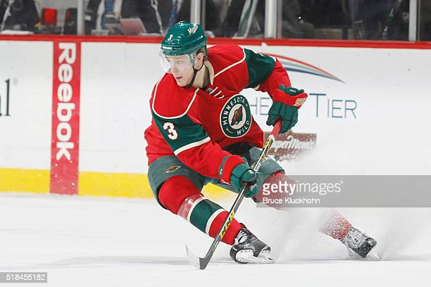 Charlie Coyle of the Minnesota Wild skates against the Calgary Flames during the game on March 24 2016 at the Xcel Energy Center in St Paul Minnesota