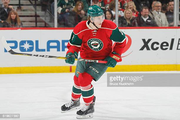 Charlie Coyle of the Minnesota Wild skates against the Ottawa Senators during the game on March 31 2016 at the Xcel Energy Center in St Paul Minnesota