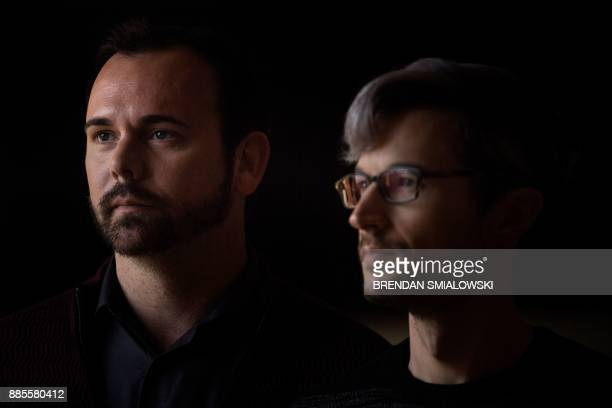 Charlie Craig and Dave Mullins pose before Masterpiece Cakeshop vs Colorado is heard before US Supreme Court December 4 2017 in Washington DC When...