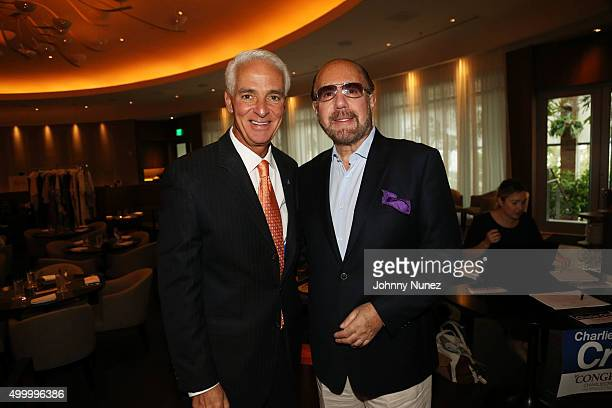 Charlie Crist and Bobby Zarin attend Charlie Crist's Brunch at The Edition on December 4 in Miami Beach Florida