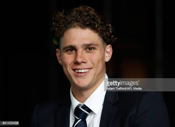 Charlie Curnow of the Blues looks on during the 2017 NAB AFL Rising Star awards at Peninsula at Atlantic on September 01 2017 in Melbourne Australia