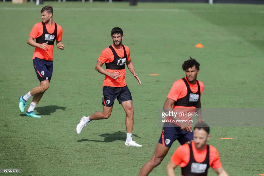 Charlie Daniels during training session at the clubs pre-season training camp at La Manga, Spain on July 12, 2018 in La Manga, Spain.