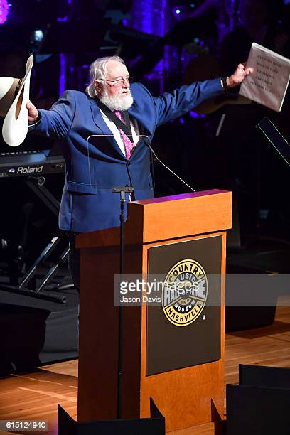 Charlie Daniels is inducted into The Country Music Hall of fame during the 2016 Medallion Ceremony at Country Music Hall of Fame and Museum on...