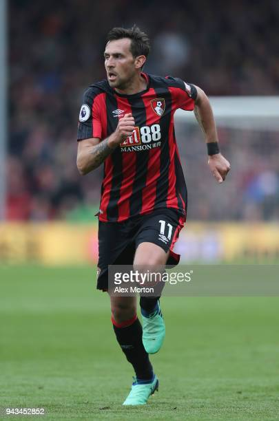 Charlie Daniels of AFC Bournemouth runs during the Premier League match between AFC Bournemouth and Crystal Palace at Vitality Stadium on April 7...