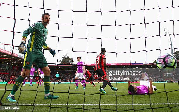 Charlie Daniels of AFC Bournemouth scores his sides first goal during the Premier League match between AFC Bournemouth and Hull City at Vitality...