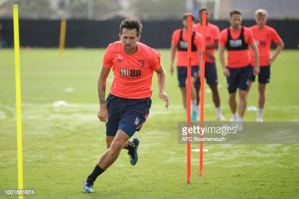 Charlie Daniels of Bournemouth during preseason training on July 19 2018 in La Manga Spain