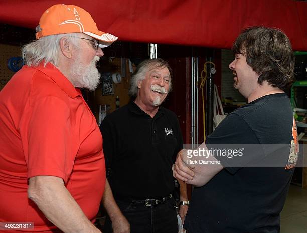 Charlie Daniels Roger Campbell and Phil Crabtree during the Gibson Custom Southern Rock tribute 1959 Les Paul Guitar launch at the SiriusXM Studios...