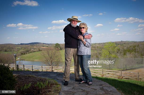 Charlie Daniels with his wife Hazel at their Twin Pines Ranch outside Nashville Tennesse We bought some 50 acres and built the house in '79 They...