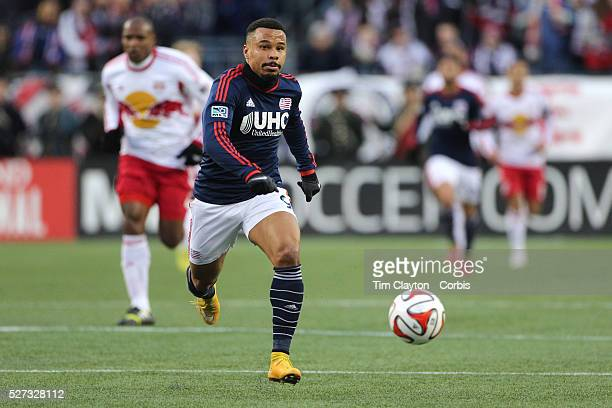 Charlie Davies New England Revolution in action during the New England Revolution Vs New York Red Bulls MLS Eastern Conference Final second leg...