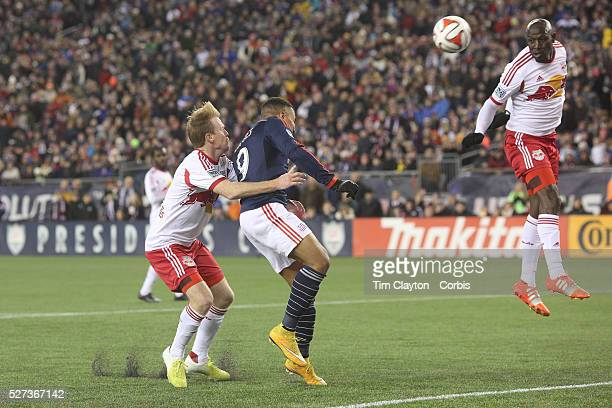 Charlie Davies New England Revolution scores the second of his two goal during the New England Revolution Vs New York Red Bulls MLS Eastern...