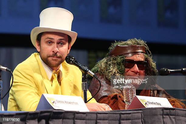 "Charlie Day and Danny Devito attend the ""It's Always Sunny in Philadelphia"" panel at 2011 Comic-Con International - Day 4 at San Diego Convention..."