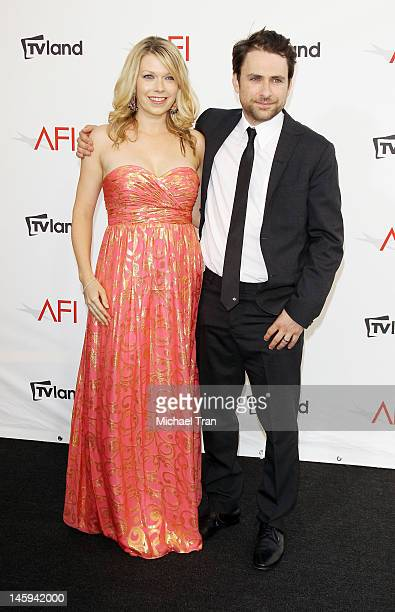 Charlie Day And Mary Elizabeth Ellis Arrive At Tv Land Presents Afi Life Achievement Award Honoring